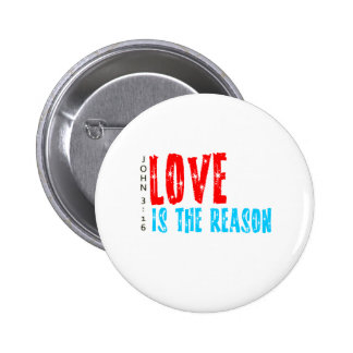 Love is the Reason for the Christmas Season 6 Cm Round Badge
