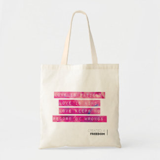 Love is.... tote bag