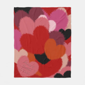 Love is Warm and Fuzzy (Personalized) Fleece Blanket
