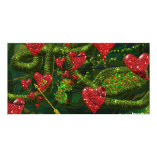 Love is Weird - Red Hearts on Strange Abstract Card