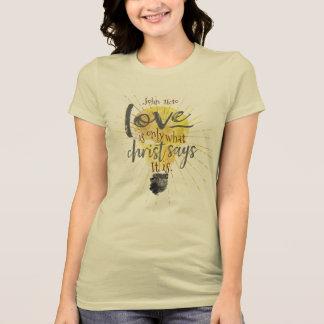 """LOVE IS"" Women's Slim-Fit Christian Tee"