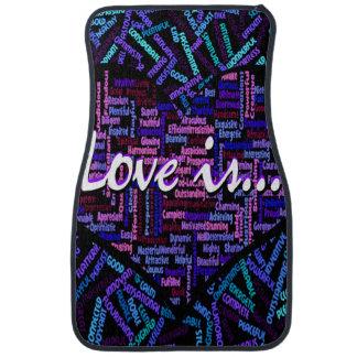Love is floor mat