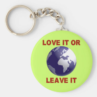 Love It Or Leave It Basic Round Button Key Ring