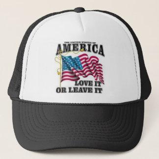 Love it or leave it trucker hat