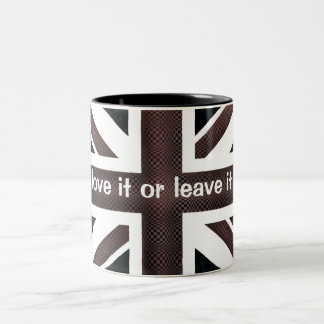 , love it or leave it Two-Tone coffee mug