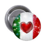 Love Italy flag heart background Buttons