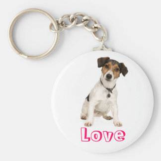 Love Jack Russell Terrier Puppy Dog Keychain