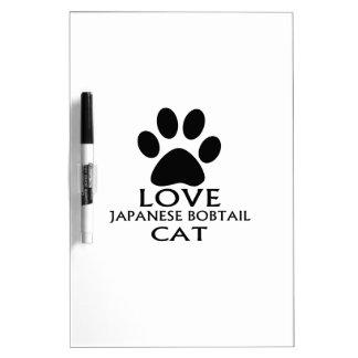 LOVE JAPANESE BOBTAIL CAT DESIGNS DRY ERASE BOARD