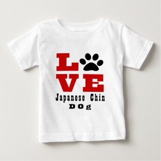 Love Japanese Chin Dog Designes Baby T-Shirt