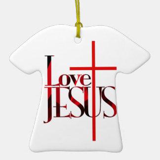 Love Jesus and The Cross Christmas Tree Ornament