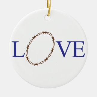 Love Jesus Round Ceramic Decoration