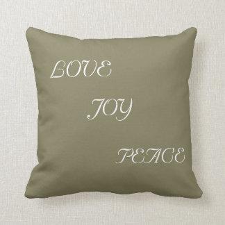 Love Joy and Peace Throw Pillow Throw Cushions