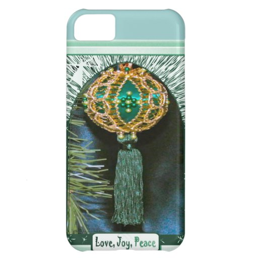 Love, joy Peace, Turquoise Cover For iPhone 5C