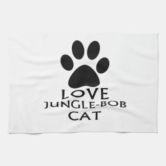 LOVE JUNGLE-BOB CAT DESIGNS TEA TOWEL