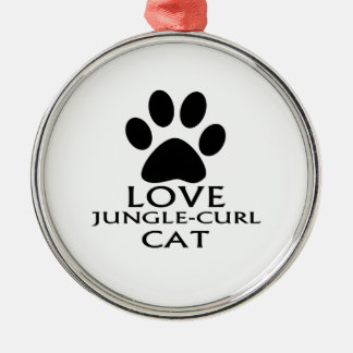 LOVE JUNGLE-CURL CAT DESIGNS METAL ORNAMENT