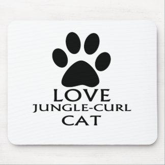 LOVE JUNGLE-CURL CAT DESIGNS MOUSE PAD
