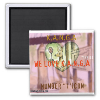 LOVE K.A.N.G.A  icon Square Magnet