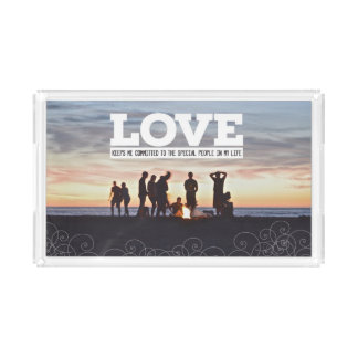 Love Keeps Me Committed Acrylic Tray