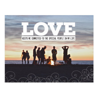 Love Keeps Me Committed Postcard