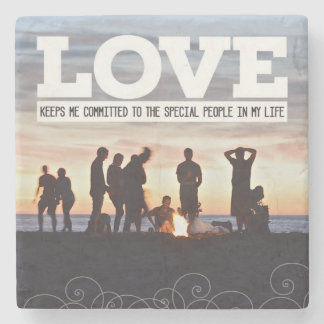 Love Keeps Me Committed Stone Coaster