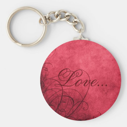 Love- Keychain: Love's Twilight Collection Basic Round Button Key Ring