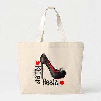 Love Killer Heels Girly Shoe Graphic Large Tote Bag