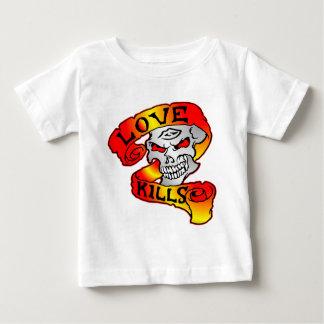 Love Kills Skull Tattoo Baby T-Shirt