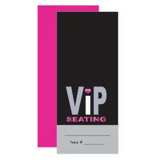 LOVE & KISSES Hot Pink Bat Mitzvah Escort Card