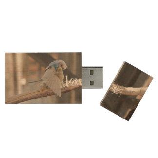 Love / Kissing Love Birds Photo Custom Wood USB 2.0 Flash Drive
