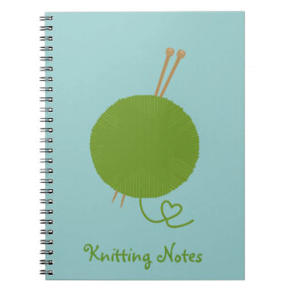 Love Knitting Notes Notebook