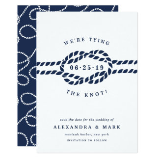 Love Knot Save the Date Card