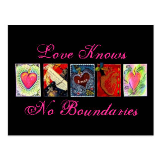 """Love Knows No Boundaries"" Postcards"