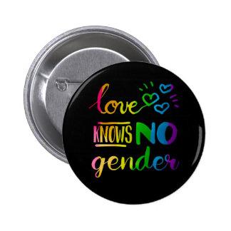 Love Knows No Gender LGBT 6 Cm Round Badge