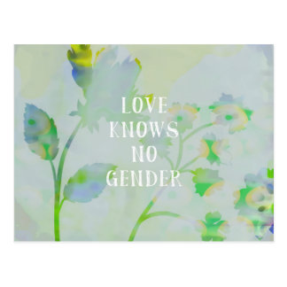 Love Knows No Gender Postcard