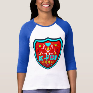 ╚»♪♥Love KPOP Stylish 3/4 Sleeve Raglan Shirt♥♫«╝ T-Shirt