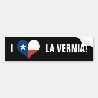 LOVE LA VERNIA! BUMPER STICKER