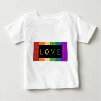 Love Label LBGT Pride and Ally Support Baby T-Shirt