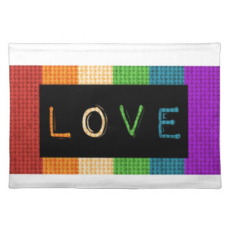 Love Label LBGT Pride and Ally Support Placemat