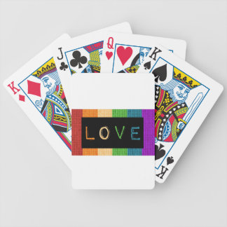Love Label LBGT Pride and Ally Support Poker Deck