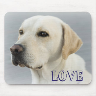 Love Labrador Retriever Puppy Dog Mousepad