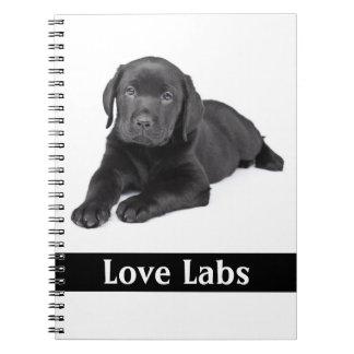Love Labs Black Labrador Retriever Puppy Notebook