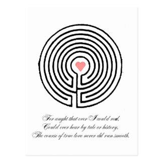 Love labyrinth - Valentine's Day Postcard
