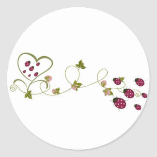 Love Ladybugs Round Sticker