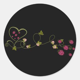 Love Ladybugs Round Sticker