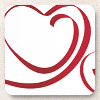 Love L'Amour Heart Strings Beverage Coaster