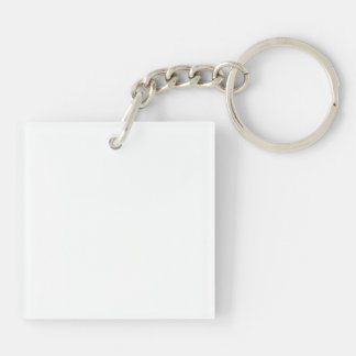 Love Lapping Single-Sided Square Acrylic Key Ring