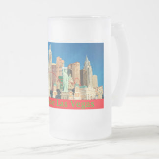 Love Las Vegas Tall Cool One Frosted Glass Beer Mug