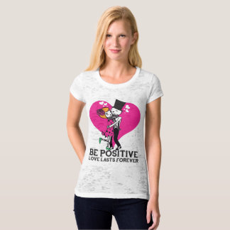 Love Lasts Forever Women's Fitted Burnout Shirt
