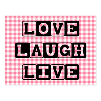 Love Laugh Live Postcard