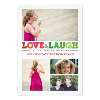 Love + Laugh x4 Card